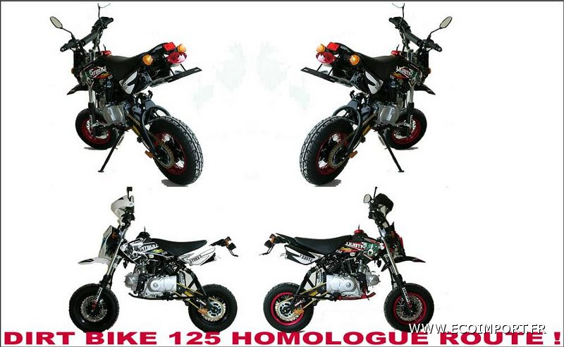 achat dirt bike homologue route. Black Bedroom Furniture Sets. Home Design Ideas